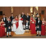 County Roscommon Tartan Kilt on groom