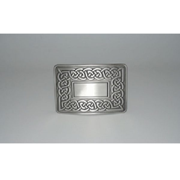 Antique Finish Celtic Link Kilt Buckle