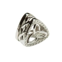 Diamond Trinity Knot Triangle Bead
