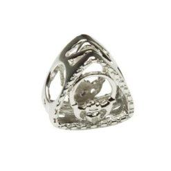 Diamond Claddagh Triangle Bead