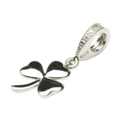 Dangle Diamond Shamrock Bead