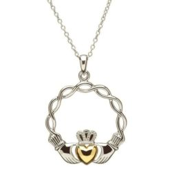 Celtic Wave Claddagh Necklace