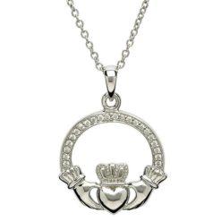 Stone Claddagh Necklace