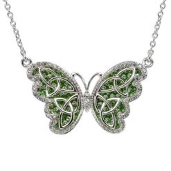Crystal Trinity Butterfly Necklace