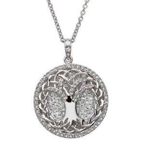 White Crystal Tree of Life Necklace