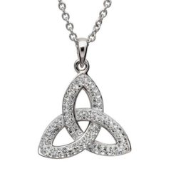 Crystal Trinity Knot Necklace
