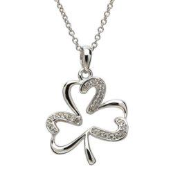Stone Shamrock Necklace
