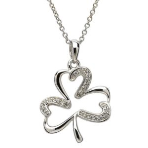Stone Shamrock Necklace