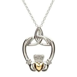 Trinity and Claddagh Necklace