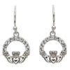 Crystal Claddagh Earrings