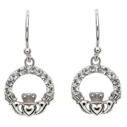 Crystal Claddagh Earrings