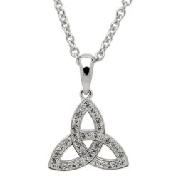 Small Crystal Trinity Knot Necklace