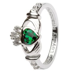 Claddagh Birthstone Ring May