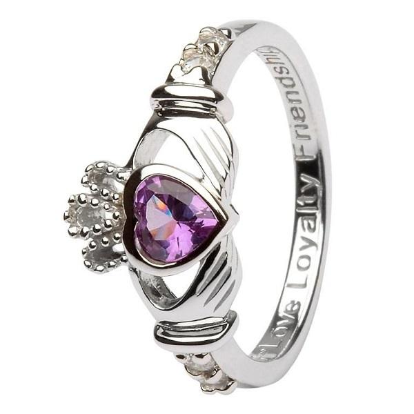 Claddagh Birthstone Ring June
