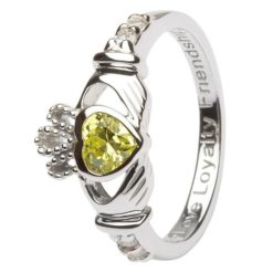 Claddagh Birthstone Ring August