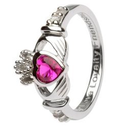 Claddagh Birthstone Ring July
