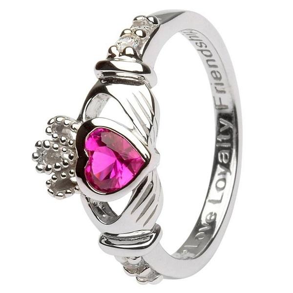 Claddagh Birthstone Ring July