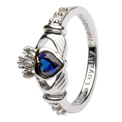 Claddagh Birthstone Ring September