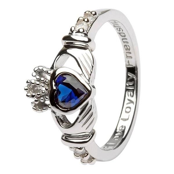 Claddagh Birthstone Ring September
