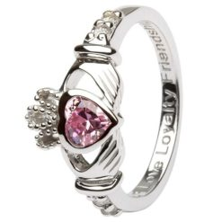 Claddagh Birthstone Ring October