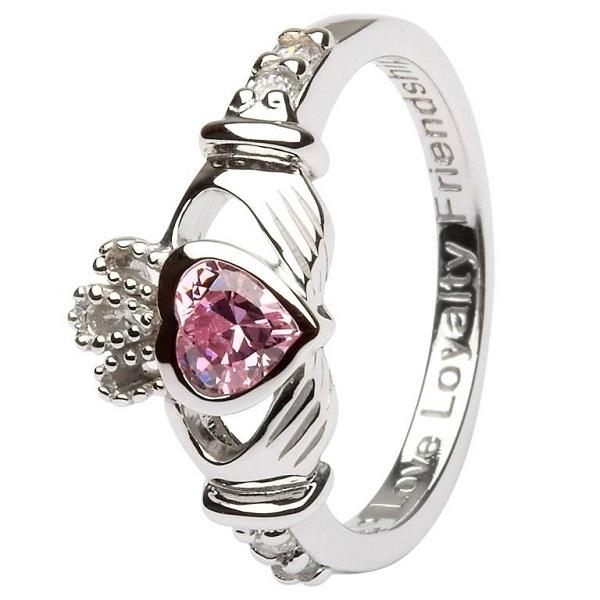 Claddagh Birthstone Ring October