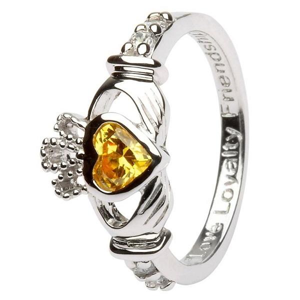 Claddagh Birthstone Ring November
