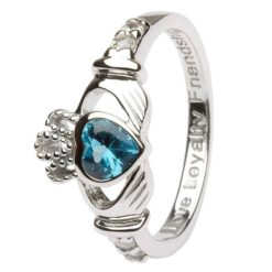 Claddagh Birthstone Ring December
