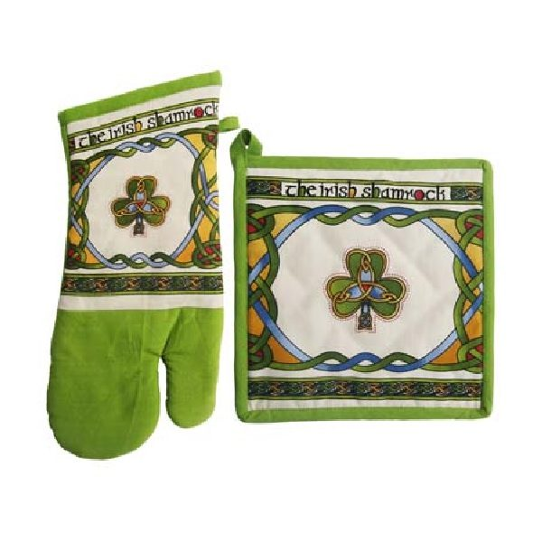 Shamrock Oven Mitt & Pot Holder