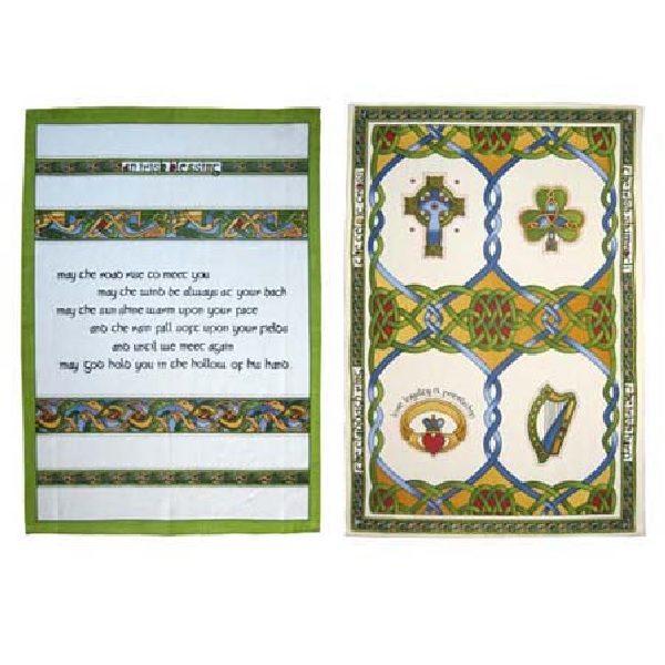 Tea Towel Set Blessing and Emblem