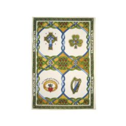 Irish Emblems Tea Towel