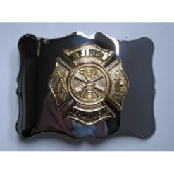 Gilt Chrome Fire Department Belt Buckle