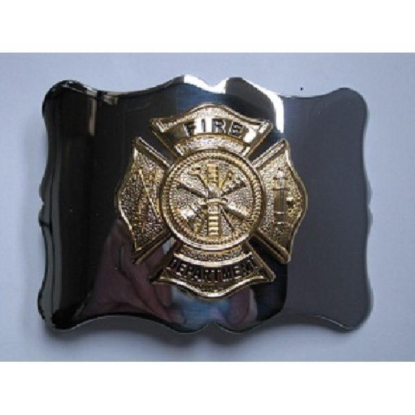 Gilt Chrome Fire Department Belt Buckle