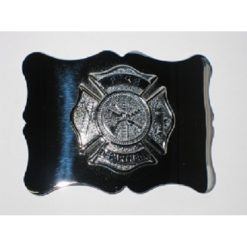 Chrome Fire Department Belt Buckle
