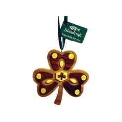 Irish Shamrock Wood Ornament