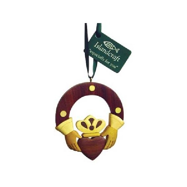 Irish Claddagh Ring Wood Ornament