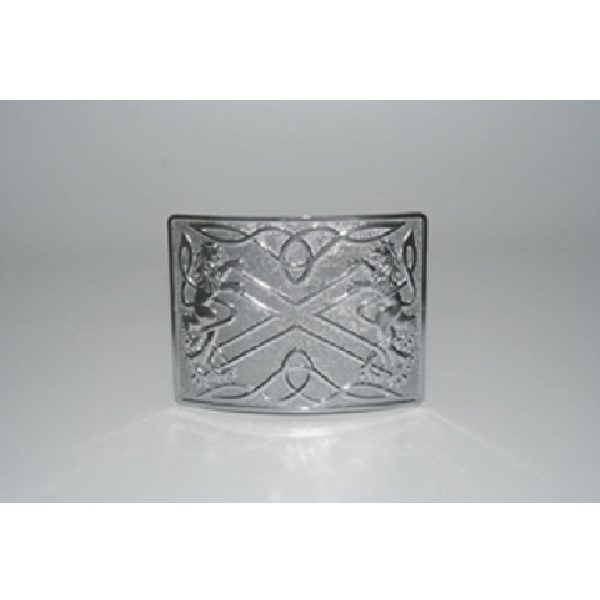 Antique Finish Highland Saltire Kilt Buckle