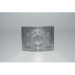 Chrome Highland Swirl Kilt Buckle