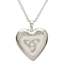 Celtic Trinity Knot Heart Shaped Locket