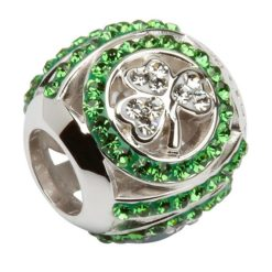 Crystal Shamrock Bead