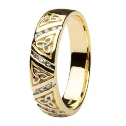 Diamond Stripe Trinity Gents Wedding Band