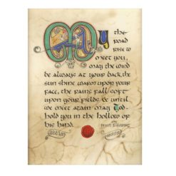 Irish Blessing Illuminated Print
