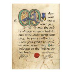 Irish Blessing Illuminated Print