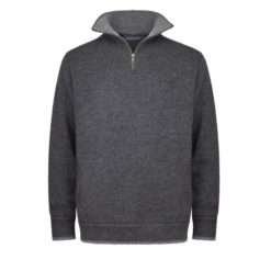 Men's Half Zip Pullover Charcoal/Light Gray