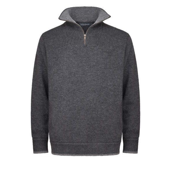 Men's Half Zip Pullover Charcoal/Light Gray