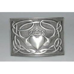 Antique Finish Claddagh Kilt Buckle