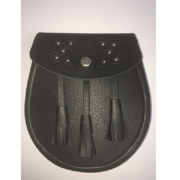 Embossed & Studded Leather Sporran