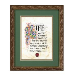 Illuminated Print Gold Frame