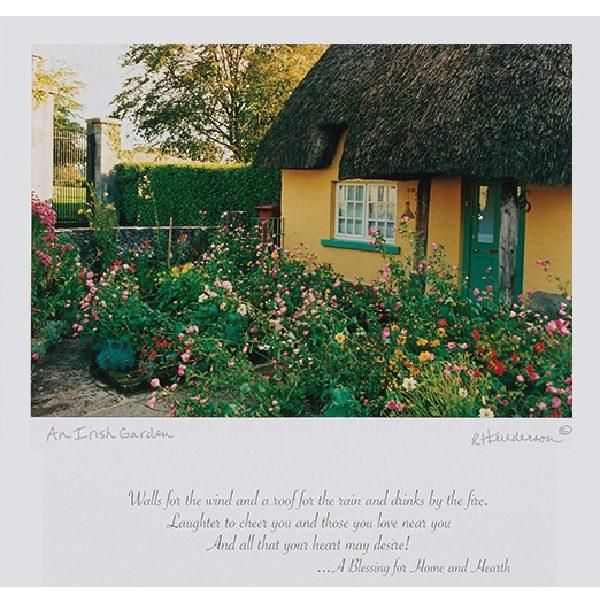 An Irish Garden Framed Blessing