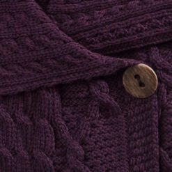 One Button Cardigan berry detail