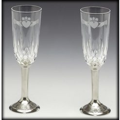 Claddagh Crystal Wedding Flutes